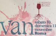 Il 10 e 11 novembre tornano a Roma i Vignaioli Artigiani Naturali (VAN)