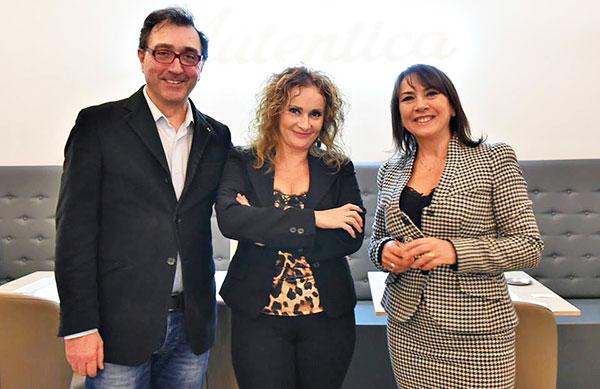 Alberto de Rogatis, Angela Merolla e Carmen Guerriero (foto Raffaele Nocera)