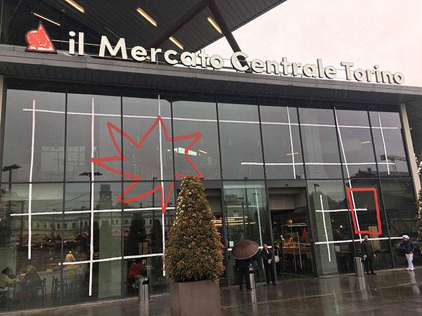 Ingresso al Mercato Centrale di Torino