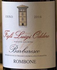 Barbaresco Rombone 2016