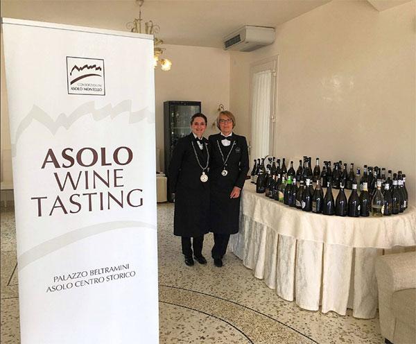 Il cartello dell'evento Asolo Wine Tasting