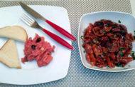 Tartare di manzo al tabasco, pomodorini secchi e capperi, Collio Cabernet Franc