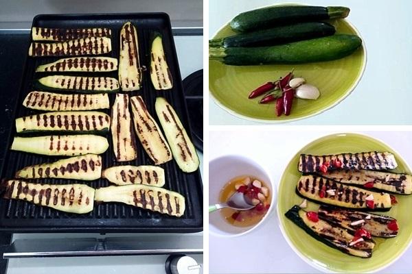 ingredienti per Zucchine grigliate con uova strapazzate ai friggitelli