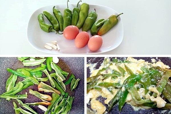 preparazione Zucchine grigliate con uova strapazzate ai friggitelli