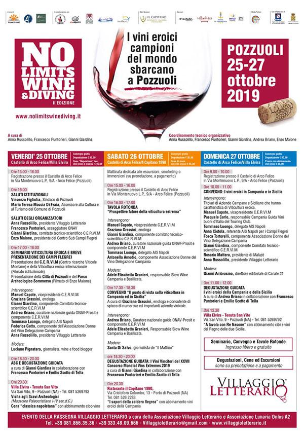 Locandina No Limits Wine Diving