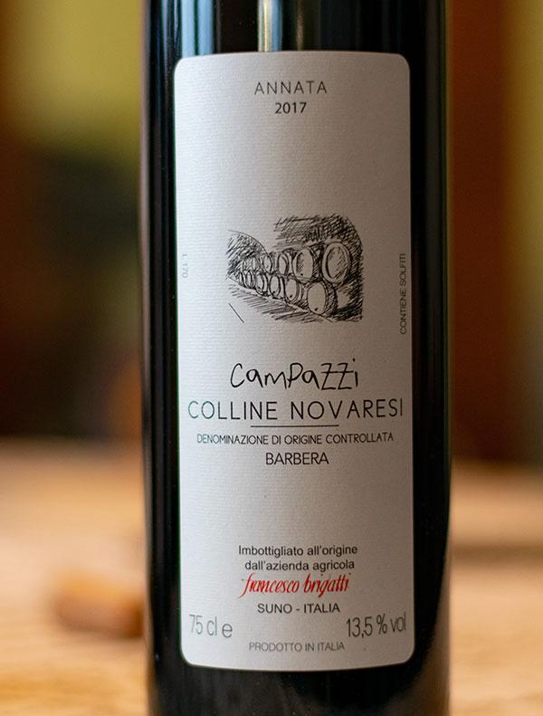 """Colline Novaresi Barbera """"Campazzi"""" 2017"""