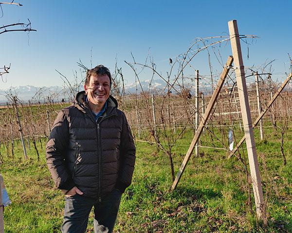 Francesco Brigatti in vigna