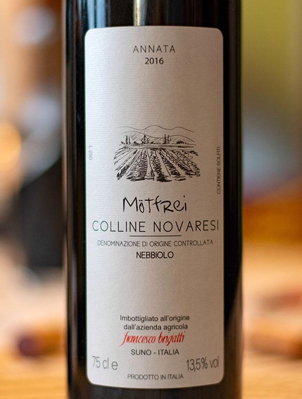"Colline Novaresi Nebbiolo ""Mötfrei"" 2016"