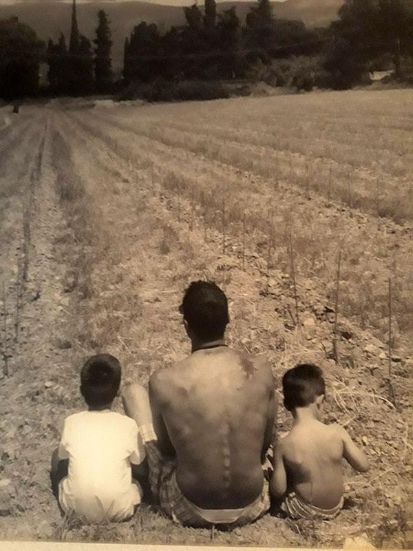 Massimo Lupi con i figli Gregorio e Guglielmo