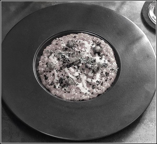 Risotto alla puttanesca. Chef Cesare Battisti
