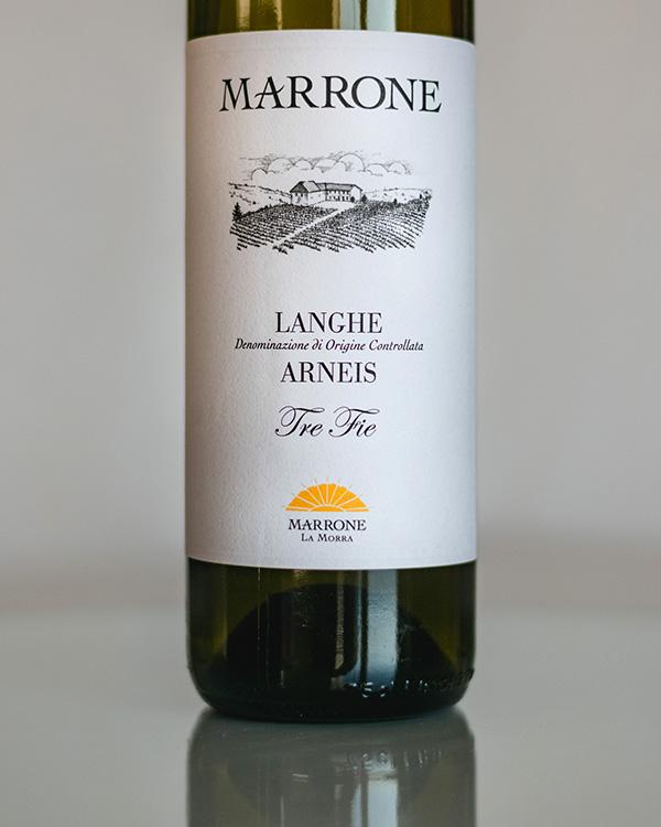 """Langhe Arneis """"Tre Fie"""" 2019 Marrone"""