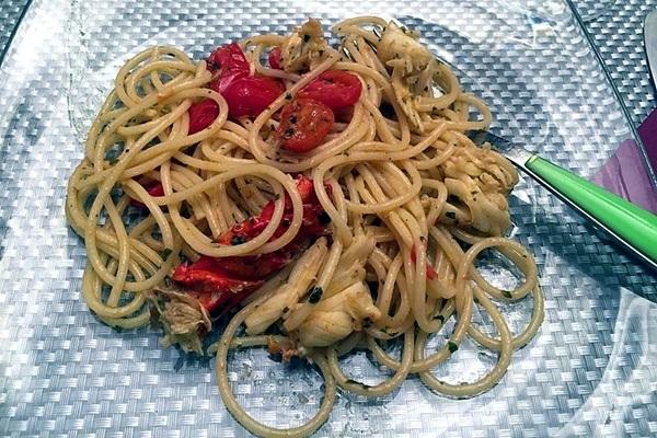 Spaghettini all'aragosta e pomodorini