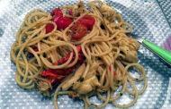 Spaghettini all'aragosta e pomodorini con Costa d'Amalfi Furore Bianco