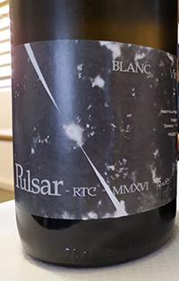 Pulsar Blanc RTC 2016 di Roberto Ferrari Manifattura Vini