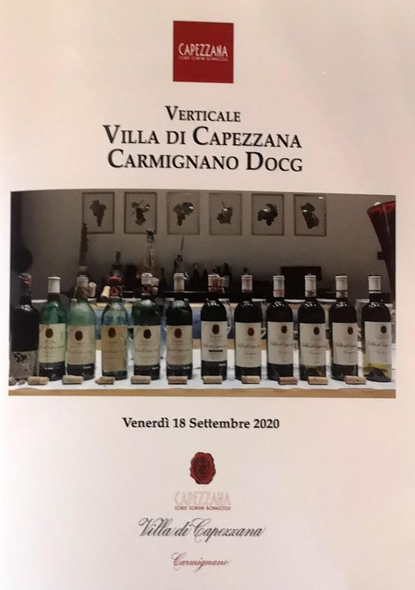 Brochure verticale di Villa di Capezzana