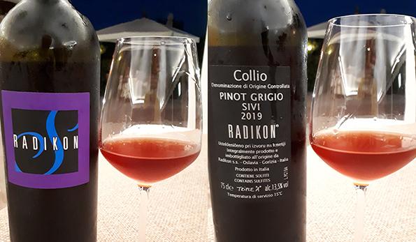 Collio Pinot Grigio Sivi 2019 Radikon: il vino che riempie di gioia
