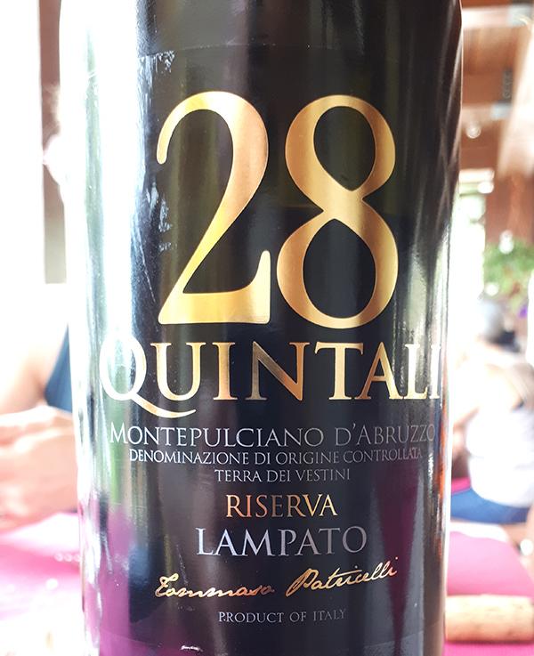 Montepulciano d'Abruzzo 28 Quintali Riserva 2013 Lampato
