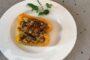 Peperoni ripieni di tonno e mollica con Ischia Biancolella