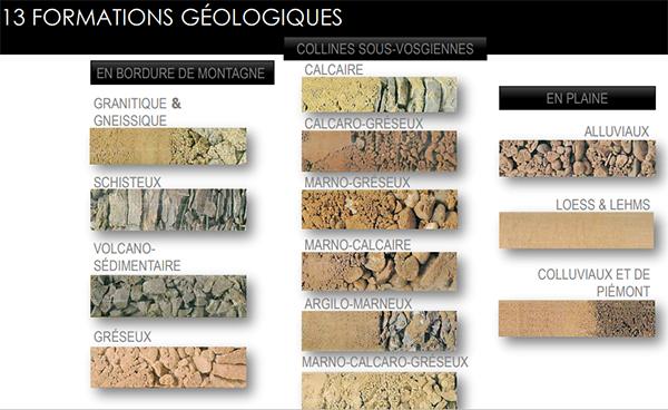 tipologie di suolo alsaziano