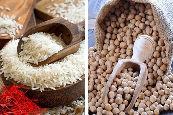 ingredienti per il Curry di ceci